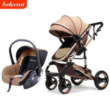 2017 Belecoo brand oem high view baby stroller 3 in 1 carriage with EN1888