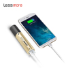 Online shopping free shipping flashlight slim power bank 3000 mAh for smartphone
