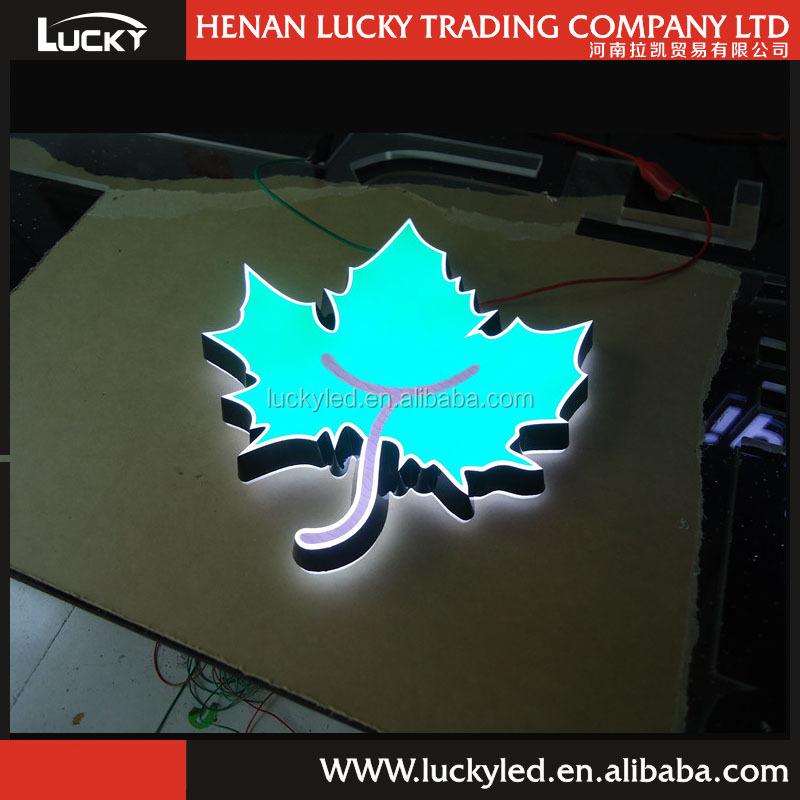 Custom Made Acrylic Laser Cutting Led Luminous Logo Store