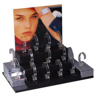 High quality Crystal Acrylic C Ring Single Watch Holder Display Stand