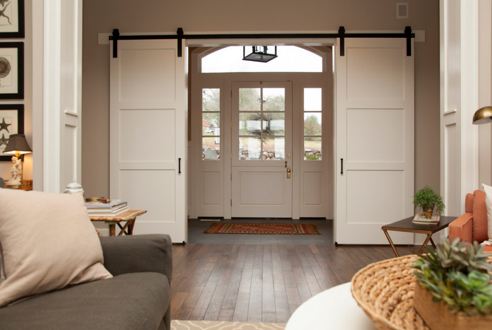 Shaker Style Interior Sliding Barn Doors