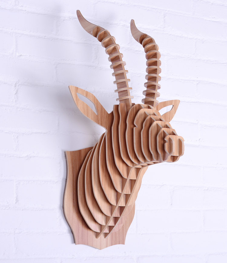 Goat Head For Wall Decoration Home Art Wooden Diy Craft Wood Carved Animal Items Mdf In Price On