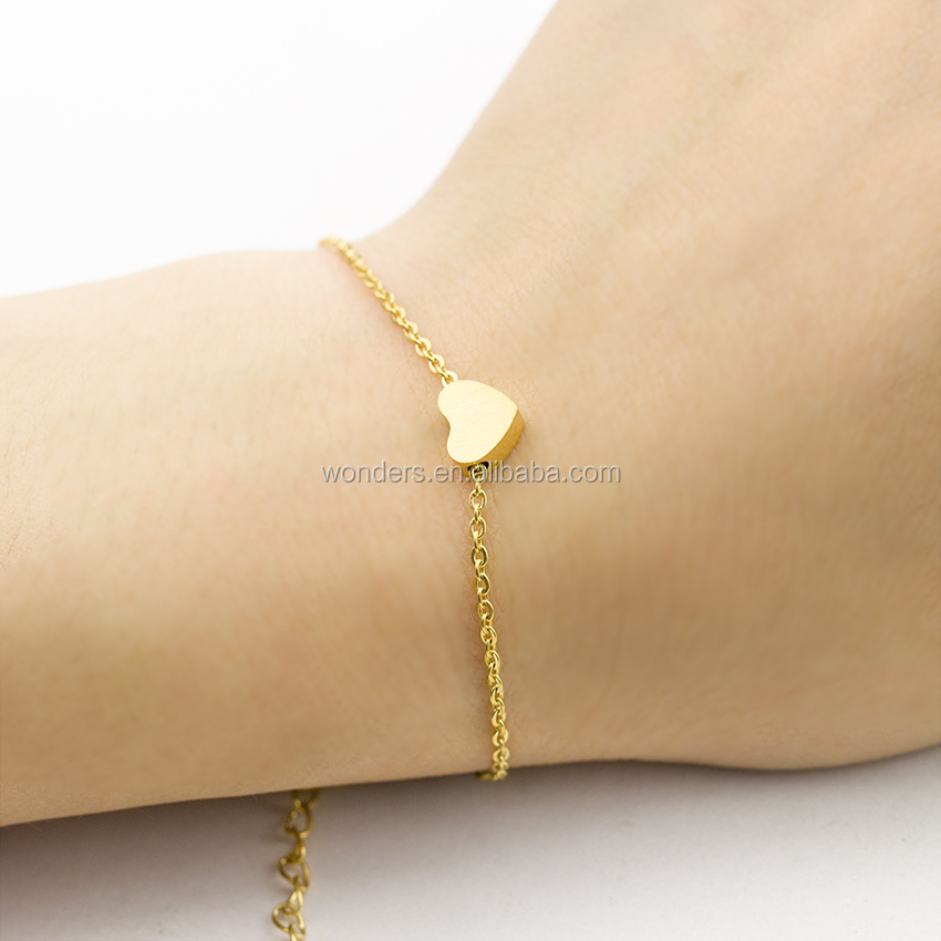 Valentines Stainless Steel Heart Charm Bracelet Girls Fashion Birthday Gift 4 Colors Available Stackable Bangle