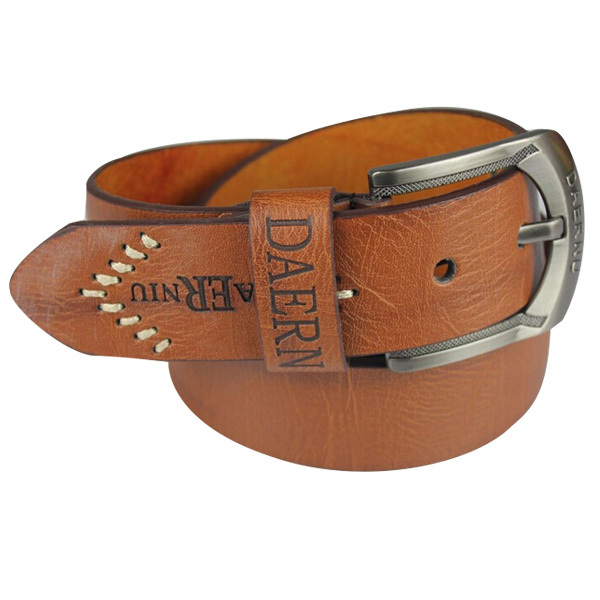Fashion Belt Men leather Brand Casual Summer Style Brown 2015 New Business Mens Desige Belt Buckle  cinto masculino EHY397