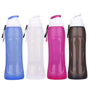 500ML Collapsible Silicone Folding Adjustable Water Bottle