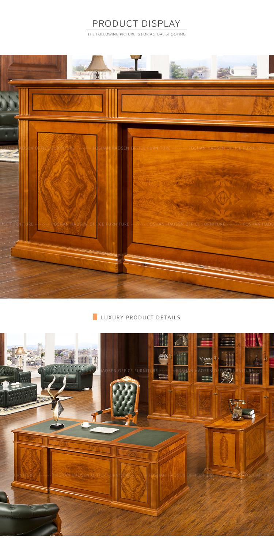 Китайский бизнес, новый дизайн, распродажа, высокий Глянец, деревянный исполнительный директор, Роскошные офисные столы, классическая офисная мебель (0806)