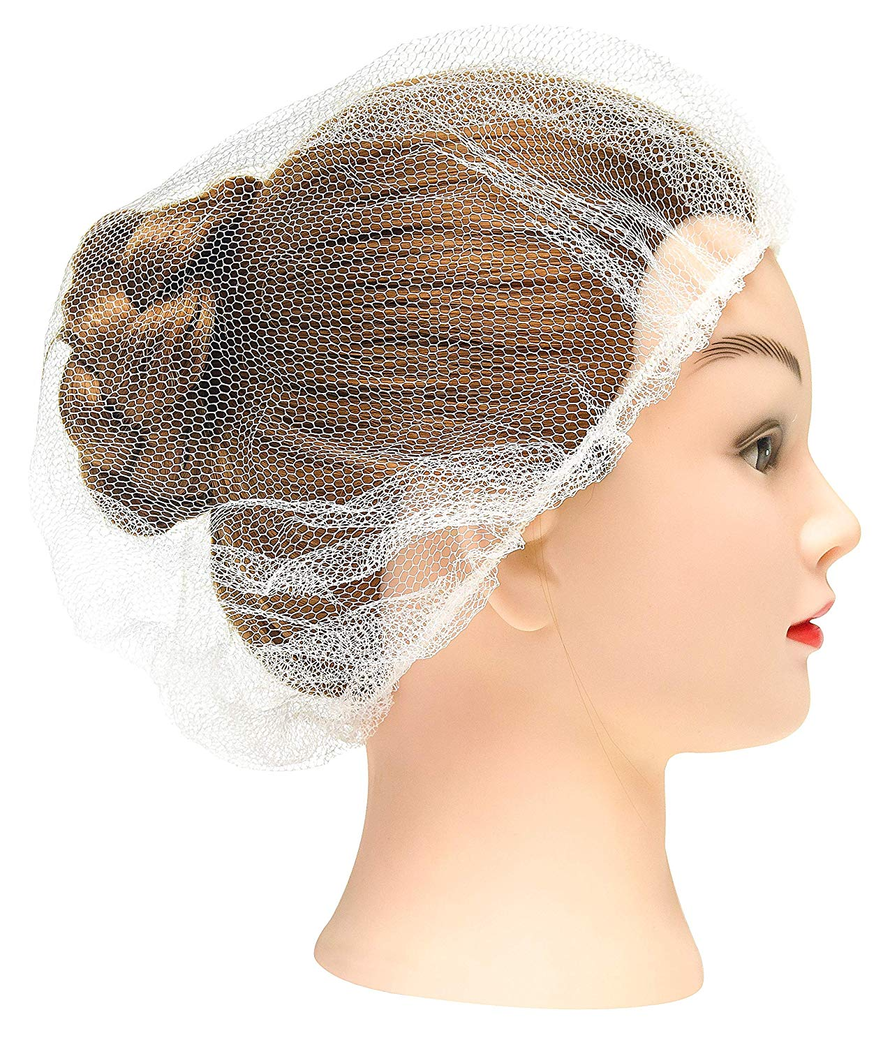 274841cb11f Disposable white hairnets. Protective Hair Nets