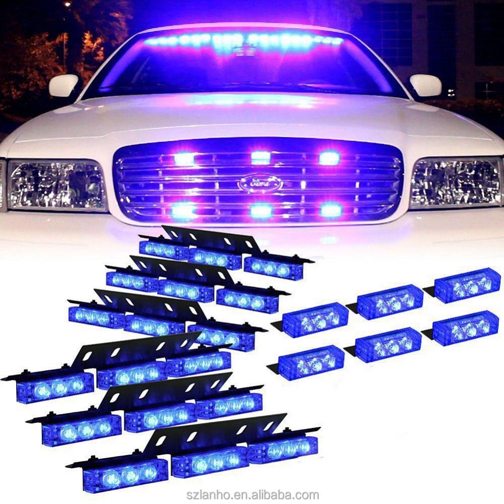 72 Led Car Led Police Strobe Flash Light Dash Emergency 3 Flashing ...