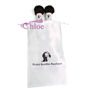 Free Desgin Satin Tassels Hair Printing Logo Bag Custom Logo Silk Hair Extension Packaging Bags For Hair