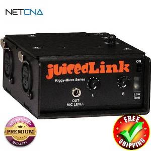 RM222 Riggy-Micro Dual-XLR Preamplifier with Phantom Power With Free 6 Feet NETCNA HDMI Cable - BY NETCNA