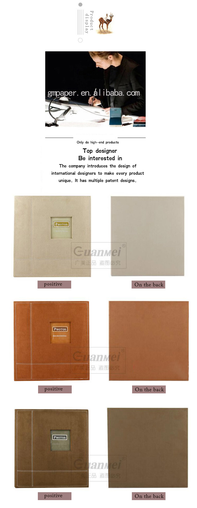 GuanMei Flannel Fabric Cover Photo Album 40 self stick sheet/Self-adhesive Photo Album