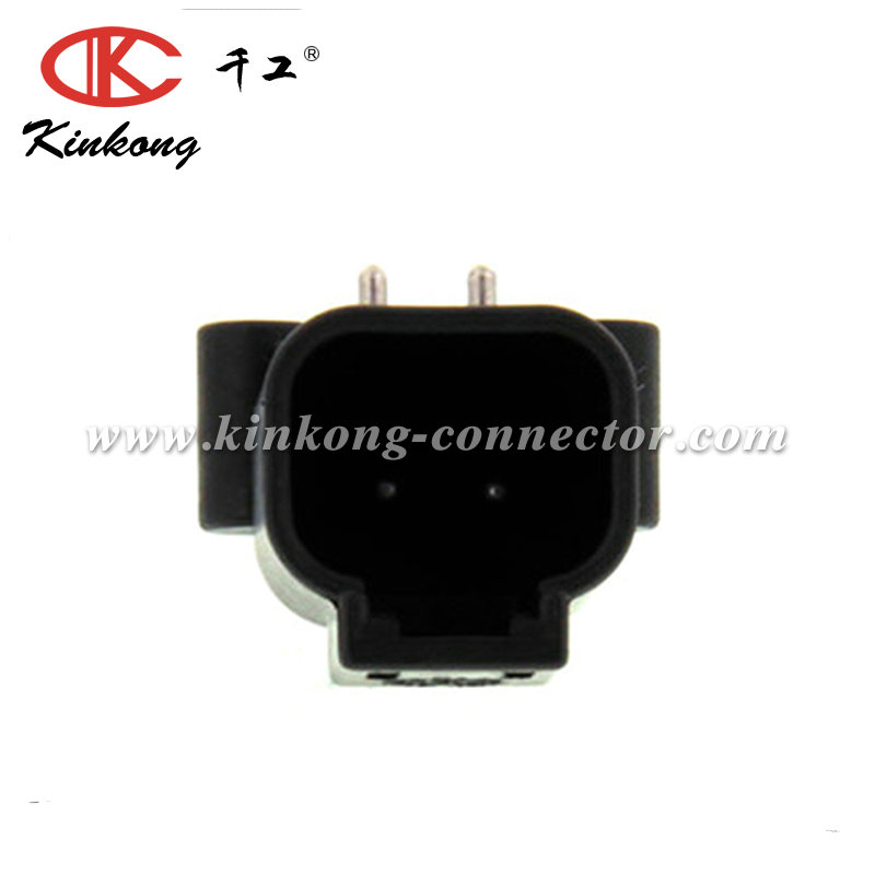 DTF13-2P 2 hole DTF Series blade black waterproof car electrical connector