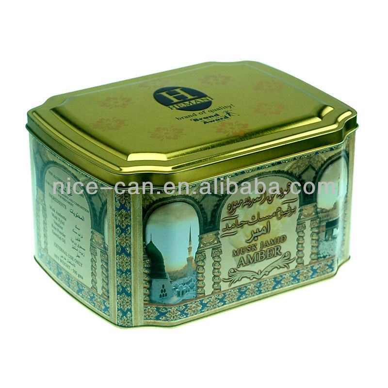 octagonal candy tins tea can