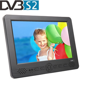 The First Model Dual Tuner of 12.8 Inch portable lcd DVB-T2 and DVB-S2 TV with H-D-M-I, AV, USB Port