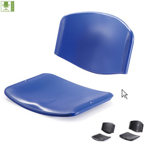 plastic back and seat/plastic chair parts components for the stack chair/school chair