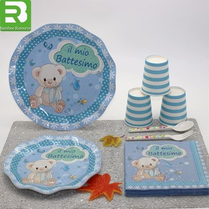 Biodegradable plate and cups set Party paper plates Party tableware