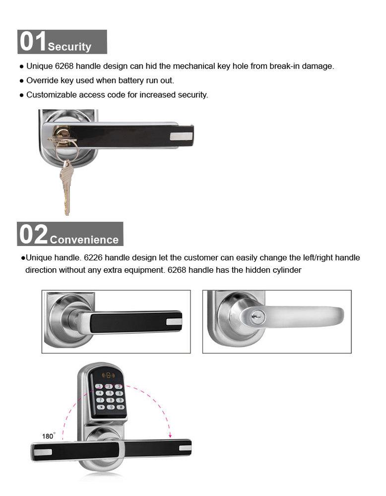 Locstar Security Electronic Code Door Lock
