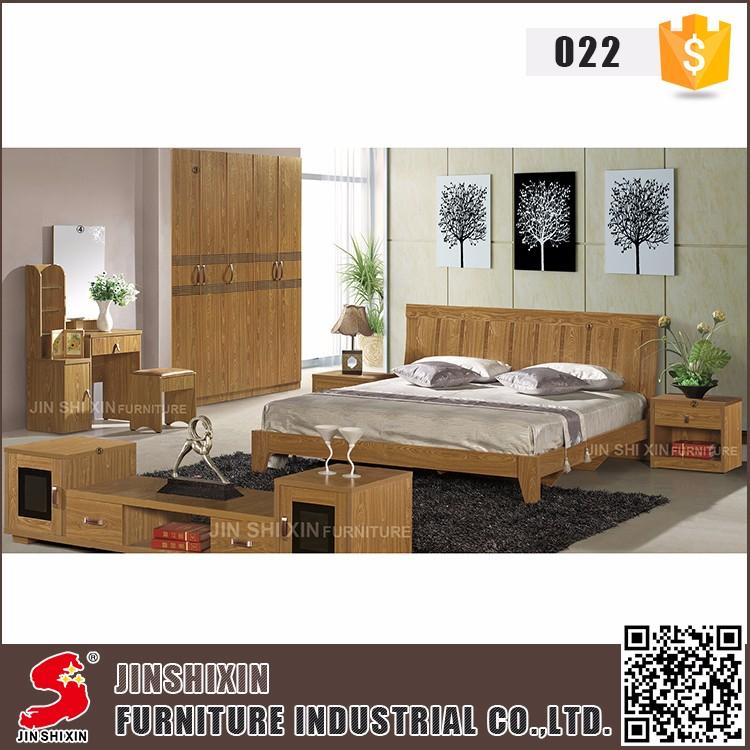China Supplier Wholesale High End Fruniture Product Modern Solid Wood Bedroom Furniture Set