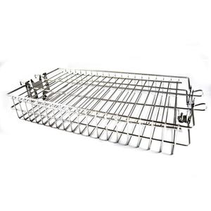 Stainless Steel Flat Spit Rotisserie Grill Basket