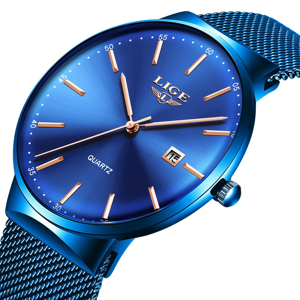 Ultra Thin Watch Waterproof Quartz Minimalist Wrist Watches Unisex Business Dress Casual Watch Men фото