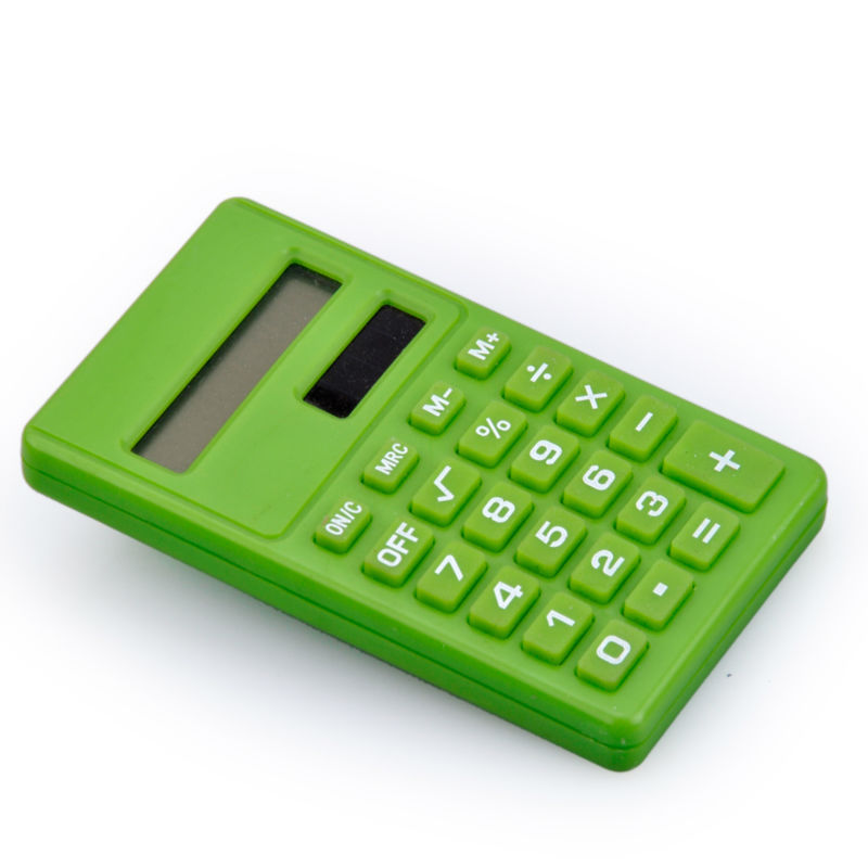 8-Digit Dual Power ,Cheap Solar Powered Calculator, Student Use