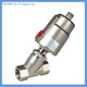JZF type SS304 or SS316 stainless steel angle seat valve