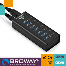 Aluminum power hub usb 3 hub with 7 port