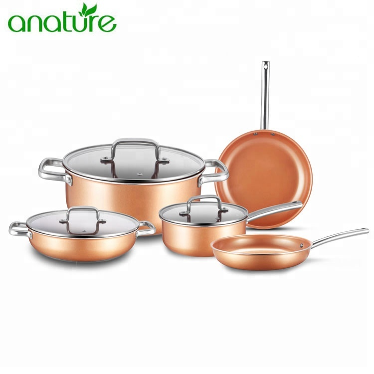 Well Equipped India Copper Cookware with Stainless Steel Handle