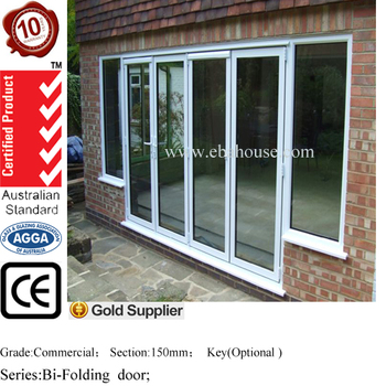 Steel Security Door Thermal Break Aluminum Glass Door With Screen