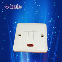 Yiwu No1 China supplier electrical switches with red light home fittings 5 gang 1 way wall switch