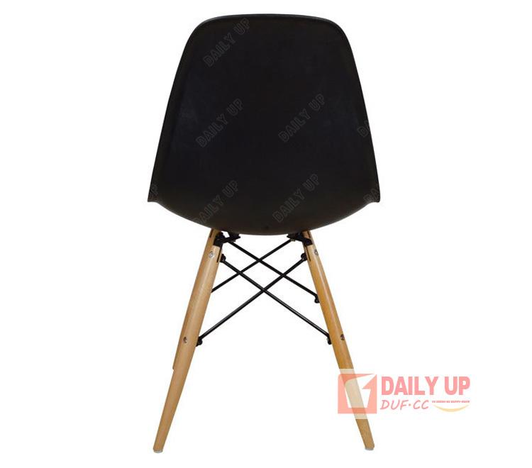 Chaise Eames Dsw Avec Pieds En Bois Salon De Loisirs Pp Couleur Cafe Meubles