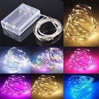Christmas Starry Copper Wire Underwater Christmas Decoration Fairy Lighting Battery Operated Led String Lights