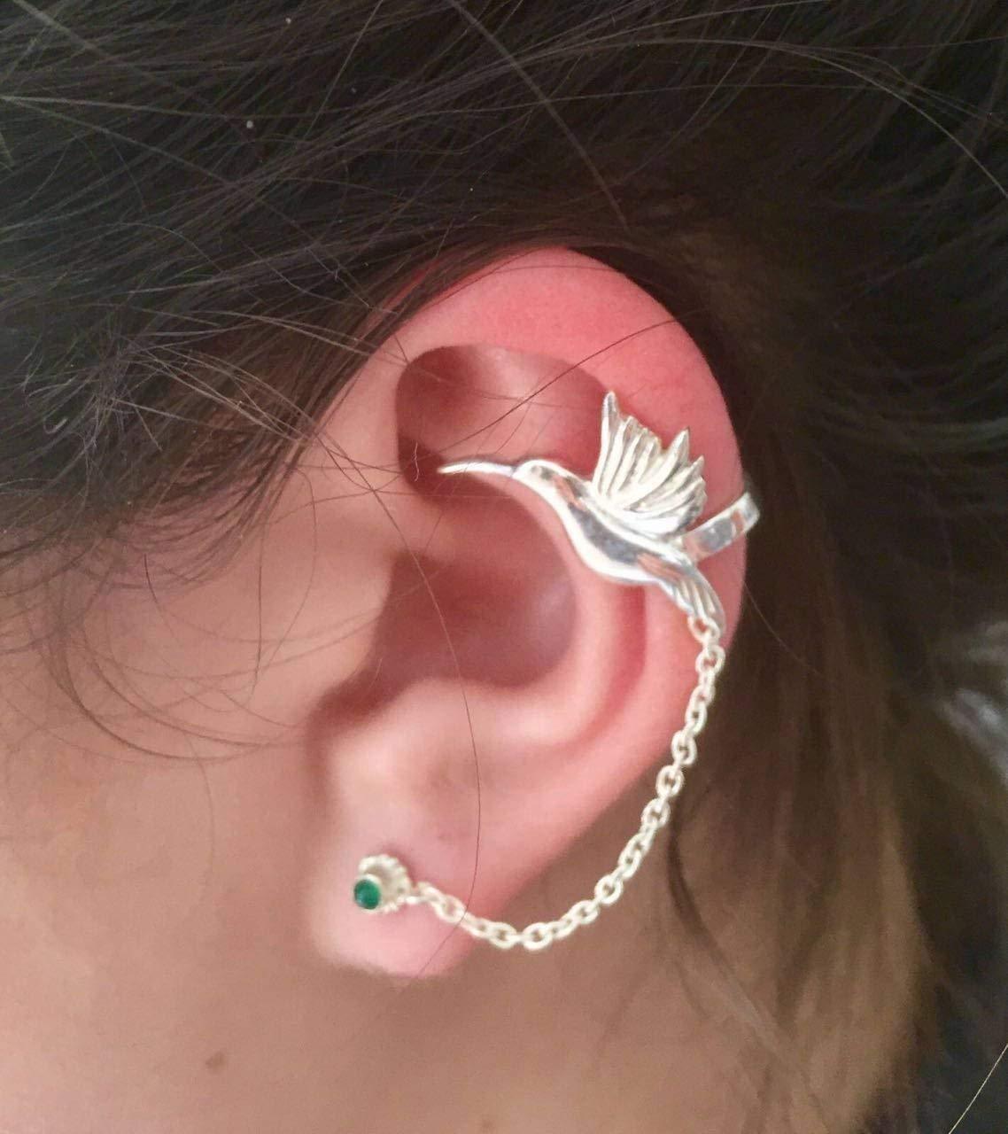 5d8350e2f Silver Ear Cuff - Ear Climber - Climber Earrings - Ear Wrap - Earcuff  Jewelry -