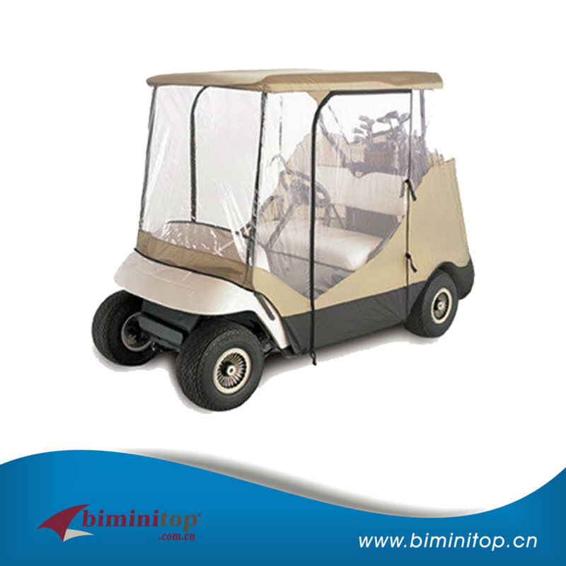 Deluxe Driving Enclosure 210D+0.3mm PVC Golf Cart Rain Cover