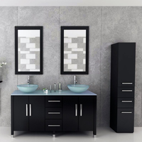 Modern free standing wholesale bathroom sink and vanity, sliding door bathroom vanity