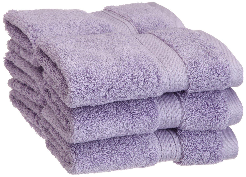 (Purple) Luxury Superior 900 GSM Egyptian Cotton 6-piece Face Towel Set