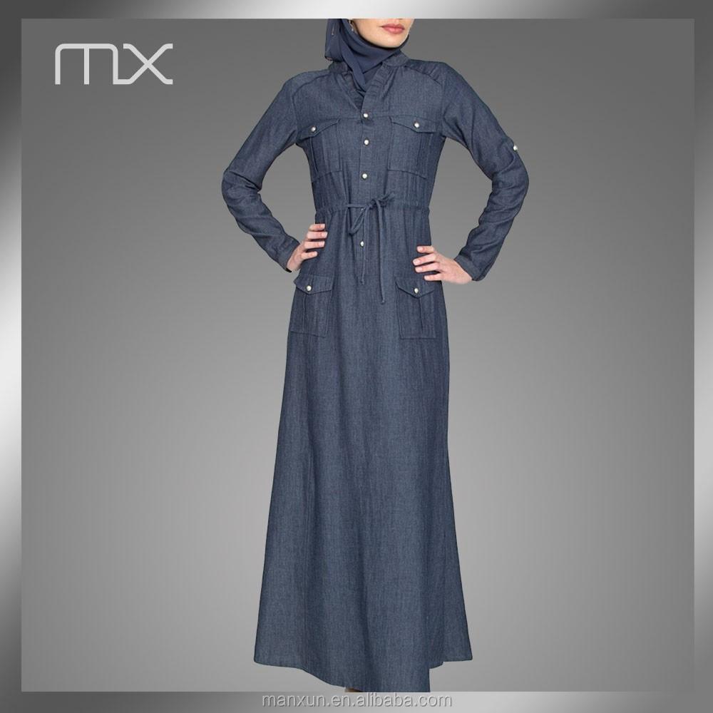 Muslim Dress For Middle East Pakistani New Style Dresses Denim Long Maxi Dress Abaya Islamic Clothing Buy Long Maxi Dress Pakistani New Style Dresses Abaya Islamic Clothing Product On Alibaba Com