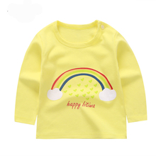 Wholesale children's clothes 9 designs printing cotton t-shirt baby