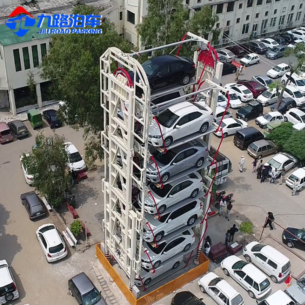 CE approved vertical rotary smart parking system for 8/10/12/16SUV or saloon cars rotary parking solution