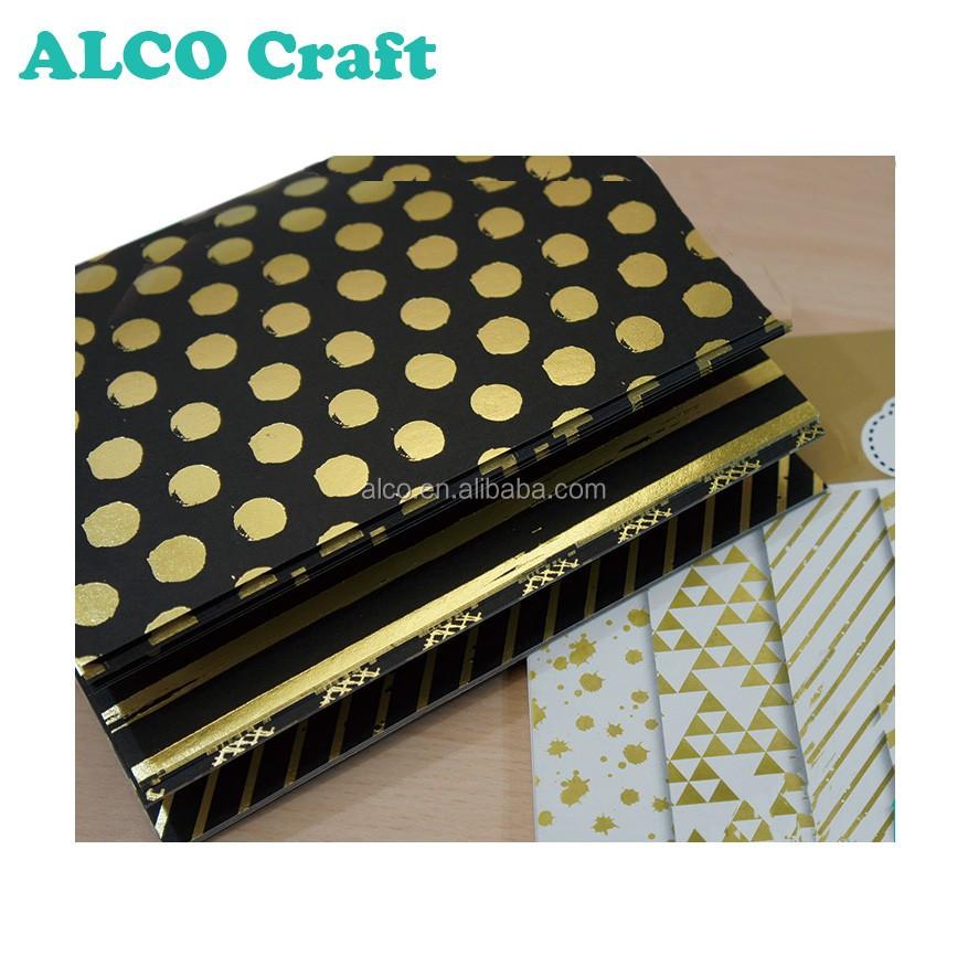 30 Sheets Gold Foil Woodfree Scrapbook Design Paper Pad Custom Printing -  Buy Scrapbook Paper,Design Paper,Gold Foil Product on Alibaba com