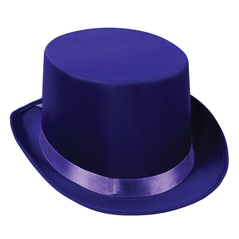 Beistle 60839-PL 6-Pack Satin Sleek Top Hat, Purple