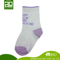 Custom Logo 100% Cotton Knitted Plain Unisex Baby Sox