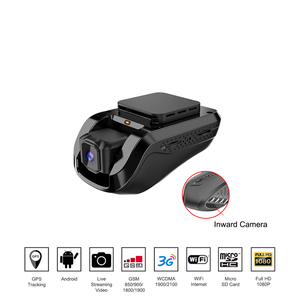 3G Smart Tracking GPS Dash Camera Car Black Box Streaming Video Recorder and Monitoring by PC Free Mobile app