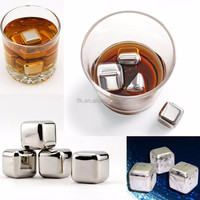 Direct Factory! L.F.K Stainless Steel reusable ice cube Whiskey Stones,Ice Cube Maker with BagLFK-IC01