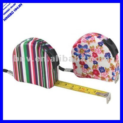 hot selling fancy design 3 meters rolling floral tape measure