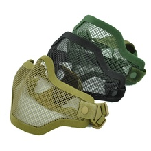 Tactique Demi-Visage <span class=keywords><strong>En</strong></span> <span class=keywords><strong>Métal</strong></span> Maille <span class=keywords><strong>Masque</strong></span> Airsoft Paintball Résistant <span class=keywords><strong>Masque</strong></span> De Protection