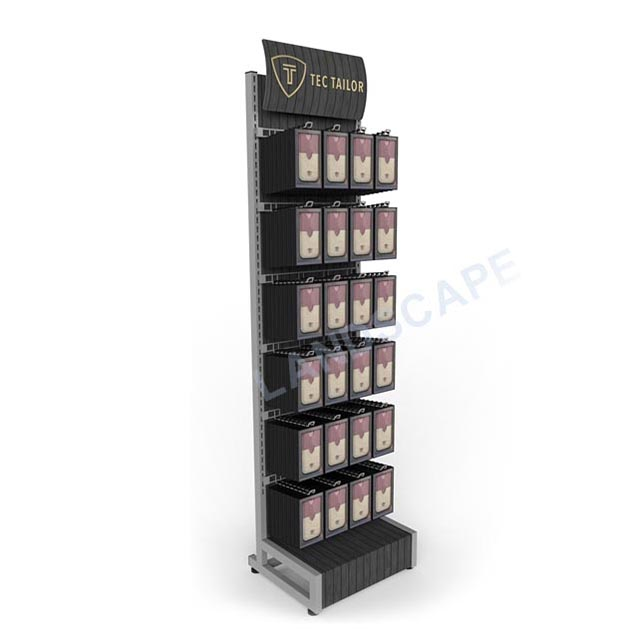 custom cell phone accessory display rack/metal display hook/ phone charger display stand