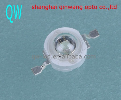 30-40lm blue led 3 watt high power LED diode with Lens 140 degree