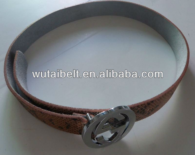 2017 Yiwu manufacturer With alloy buckle of snakeskin leather belt