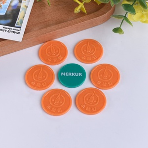 High Quality Embossed Custom Clear Plastic Token Coin